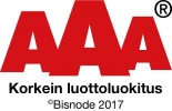 AAA korkein luottoluokitus